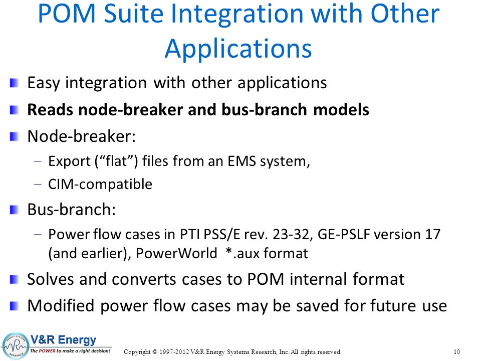 POM Suite Integration with Other Applications