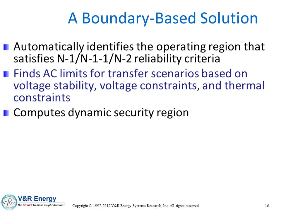 A Boundary-Based Solution