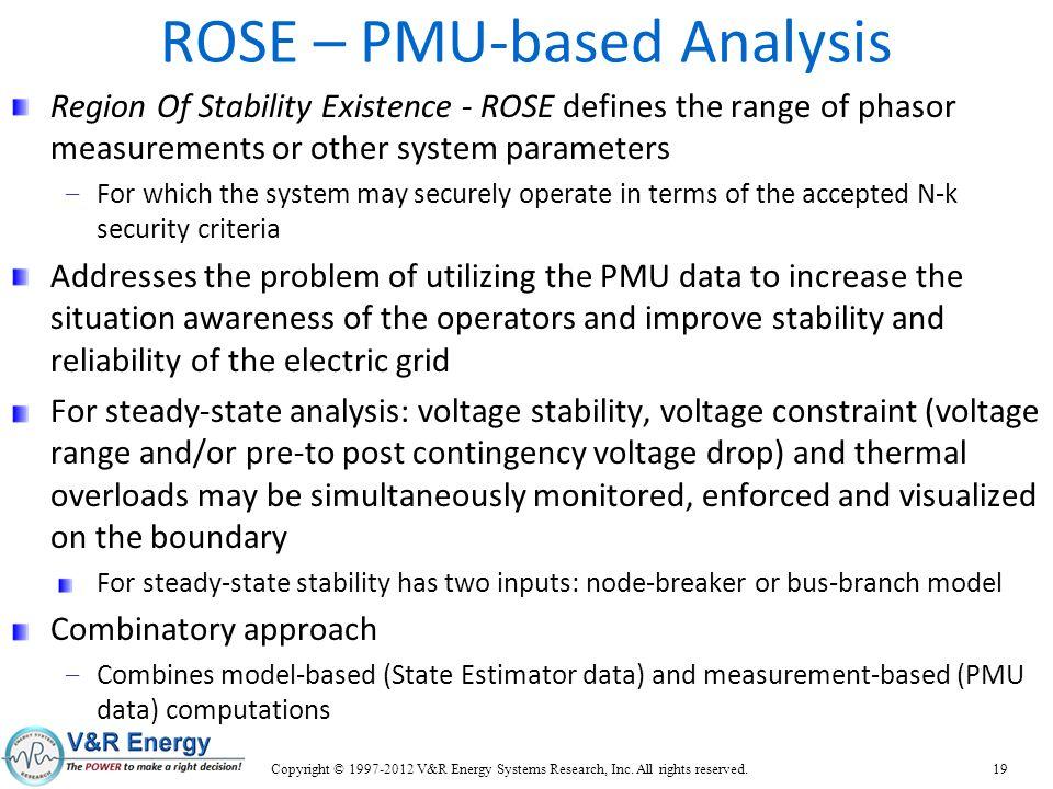 ROSE – PMU-based Analysis