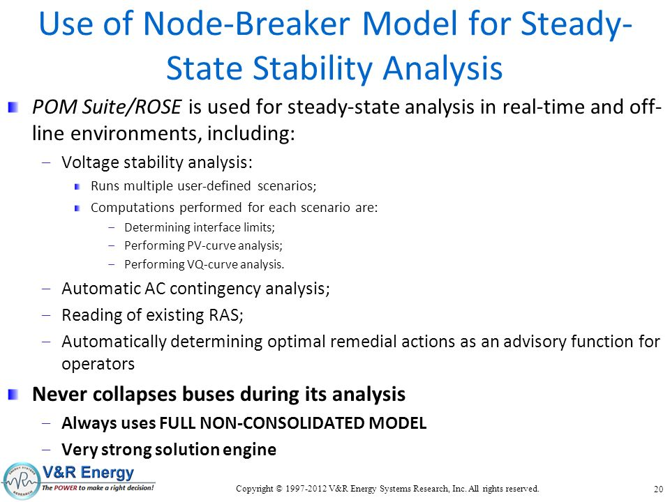Use of Node-Breaker Model for Steady-State Stability Analysis