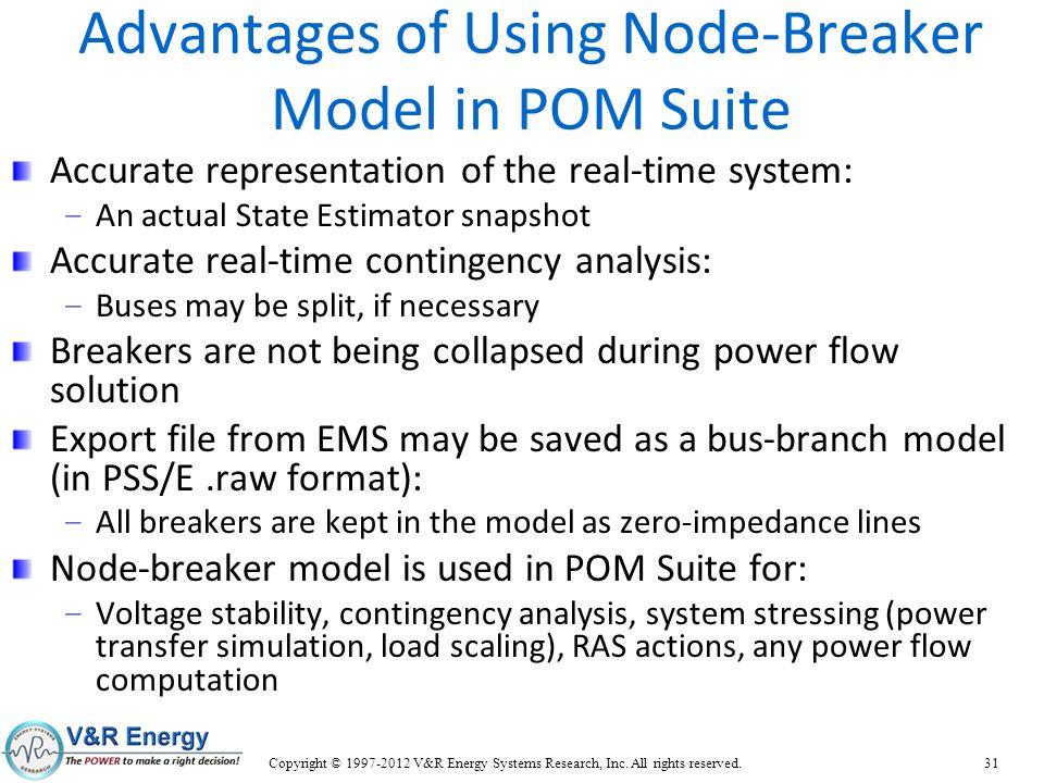 Advantages of Using Node-Breaker Model in POM Suite