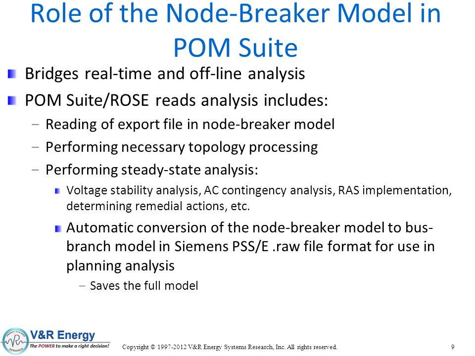 Role of the Node-Breaker Model in POM Suite