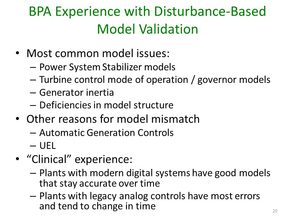 BPA Experience with Disturbance-Based Model Validation