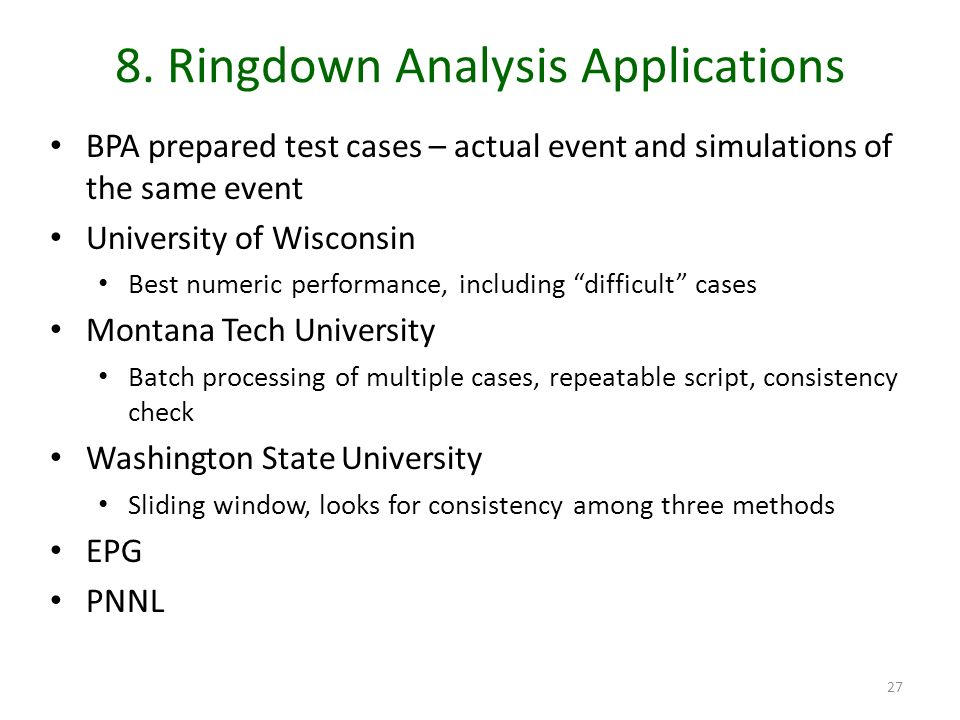 8. Ringdown Analysis Applications