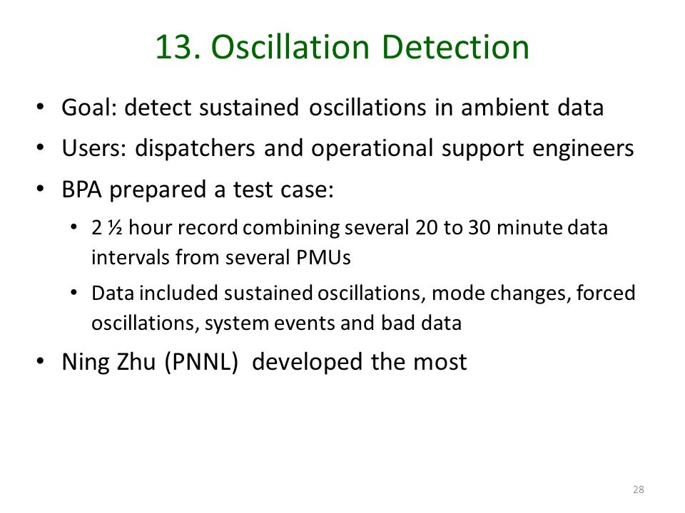 13. Oscillation Detection