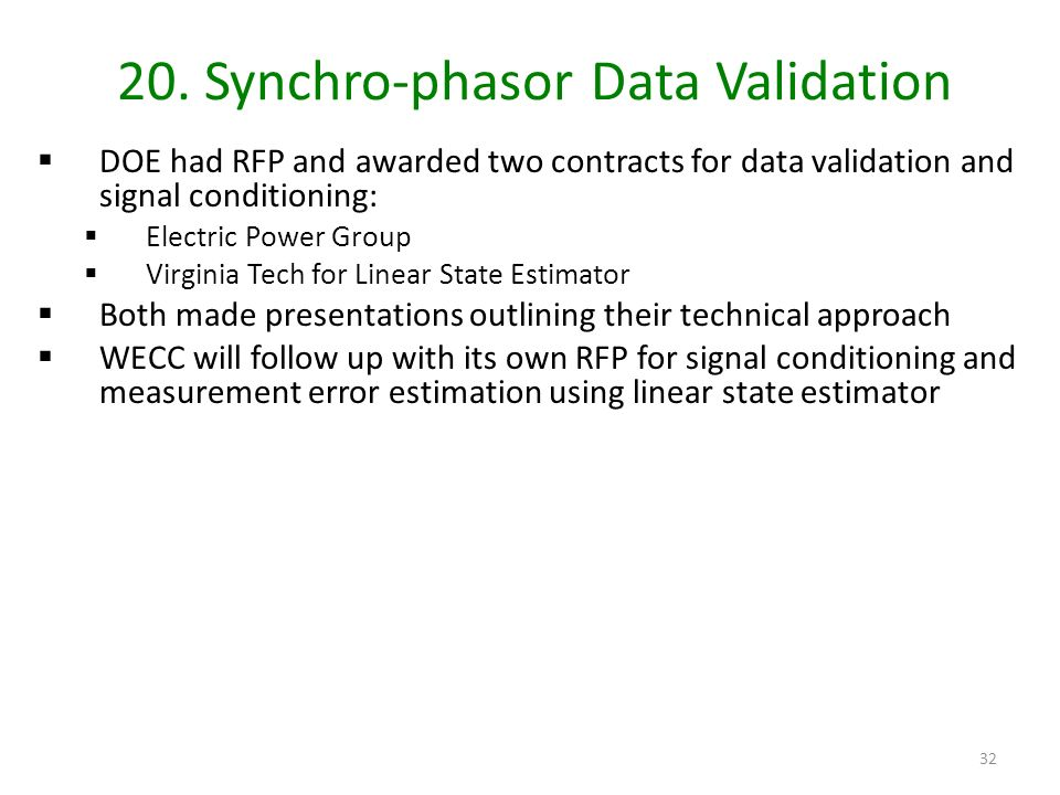 20. Synchro-phasor Data Validation