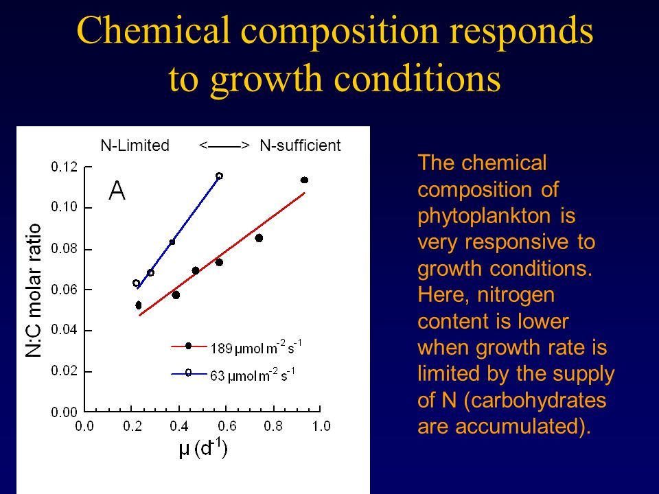 Chemical composition responds to growth conditions