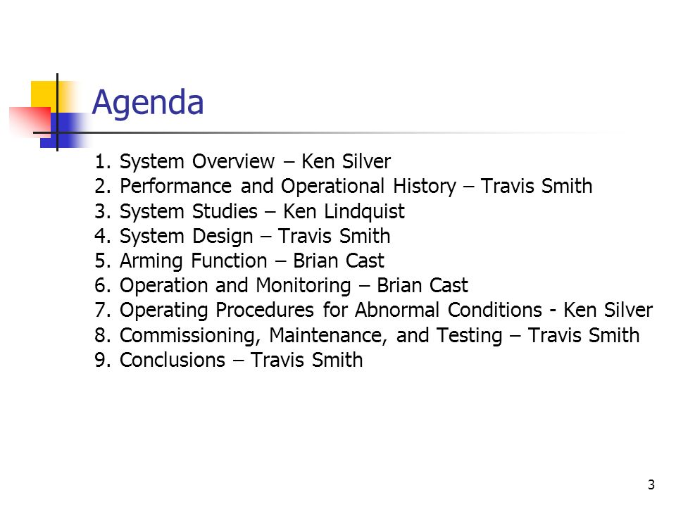 Agenda System Overview – Ken Silver