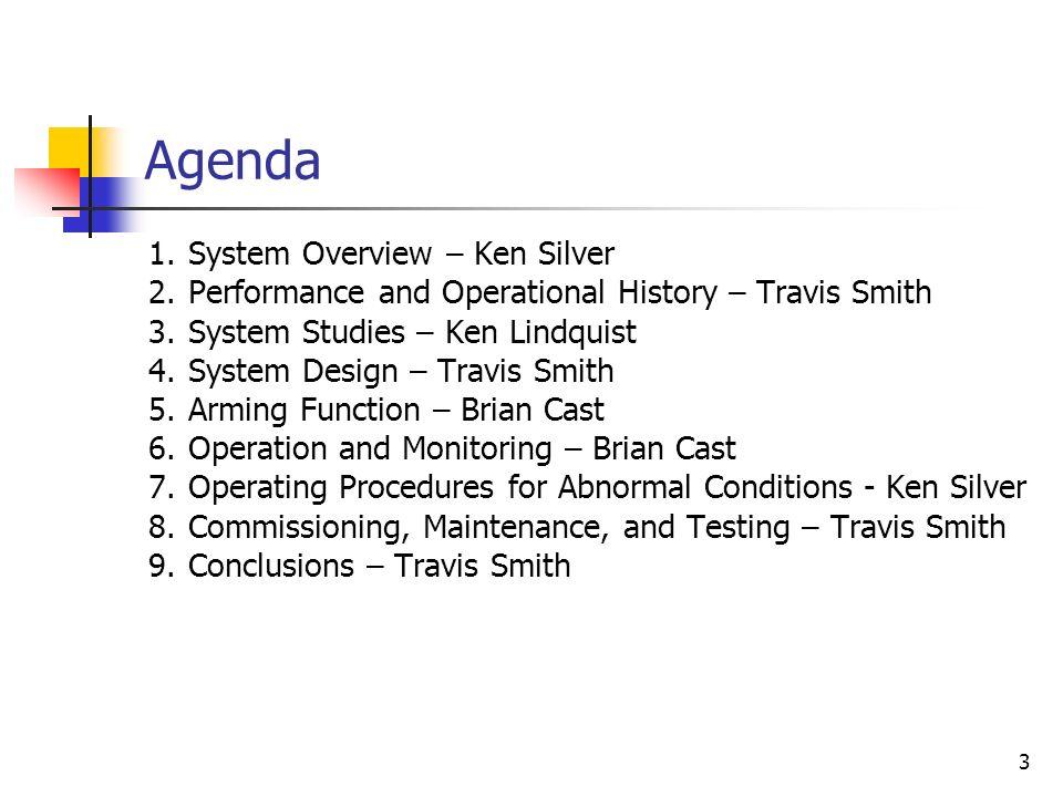 Agenda System Overview – Ken Silver