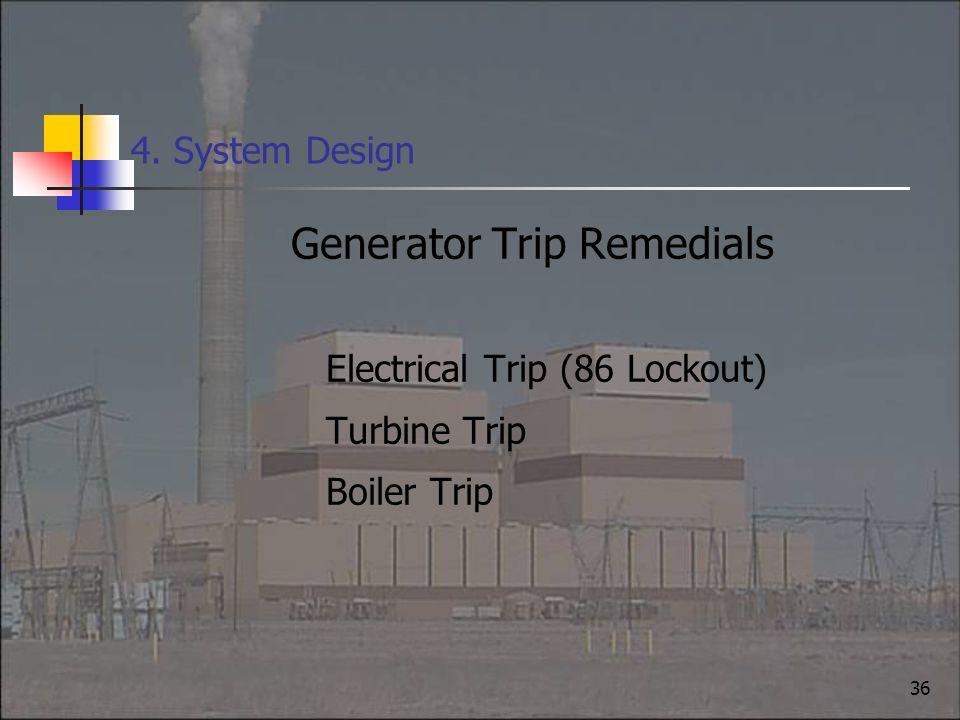 Generator Trip Remedials