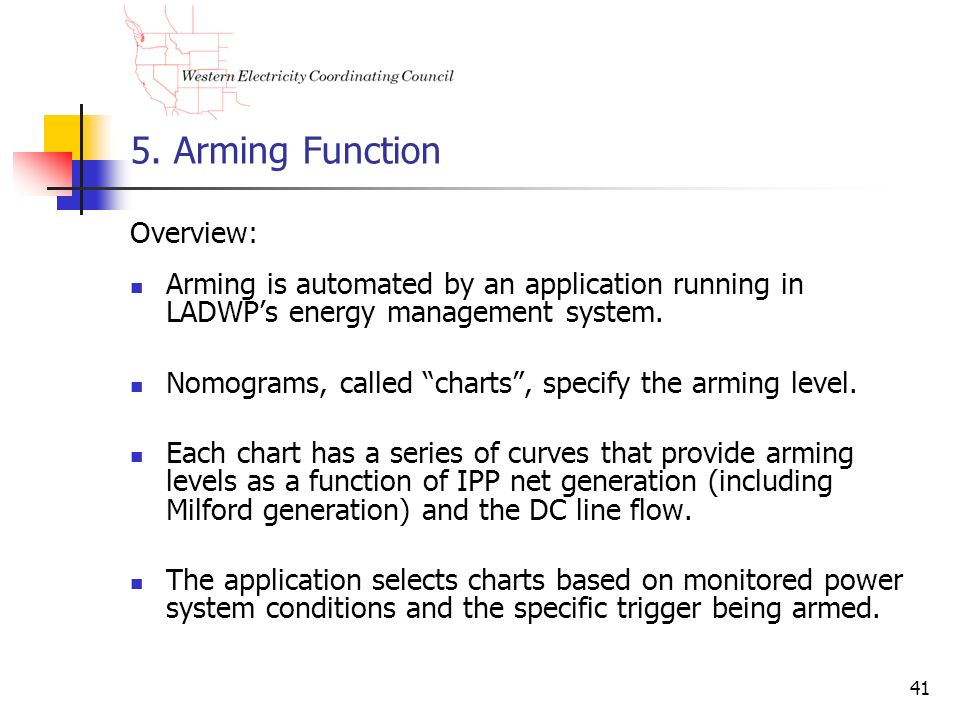 5. Arming Function Overview: