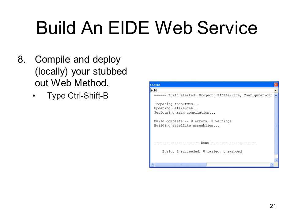 Build An EIDE Web Service