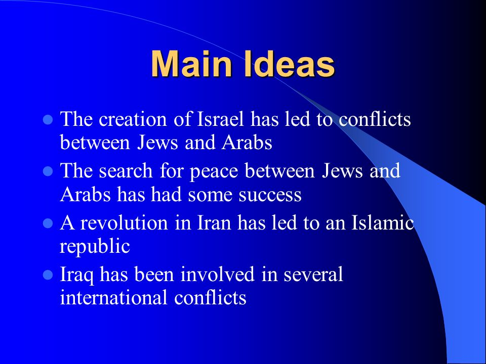 the genesis and history of conflicts in the middle east What are the spiritual roots of the arab-israeli conflict the middle east crisis in biblical perspective and he spelled out the boundaries of the land in detail as encompassing most of what is referred to today as the middle east (genesis 15:18-21.