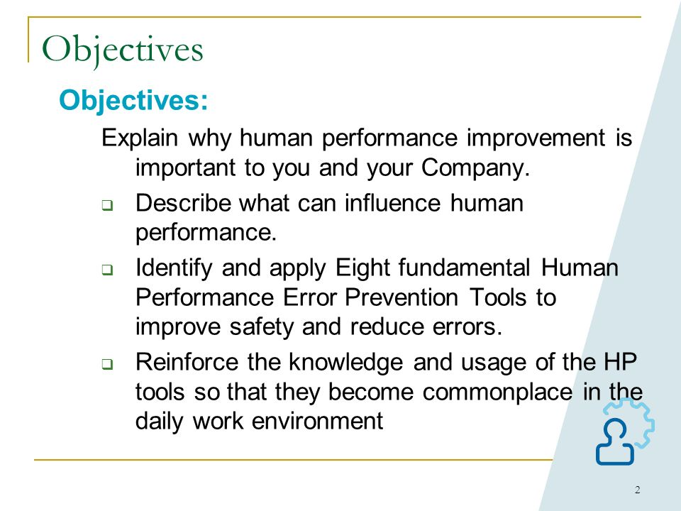 Objectives Objectives: