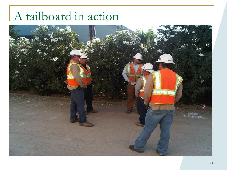 A tailboard in action C