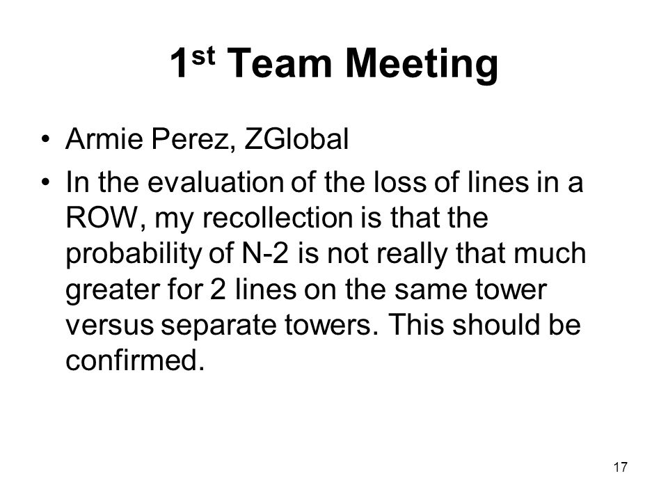 1st Team Meeting Armie Perez, ZGlobal