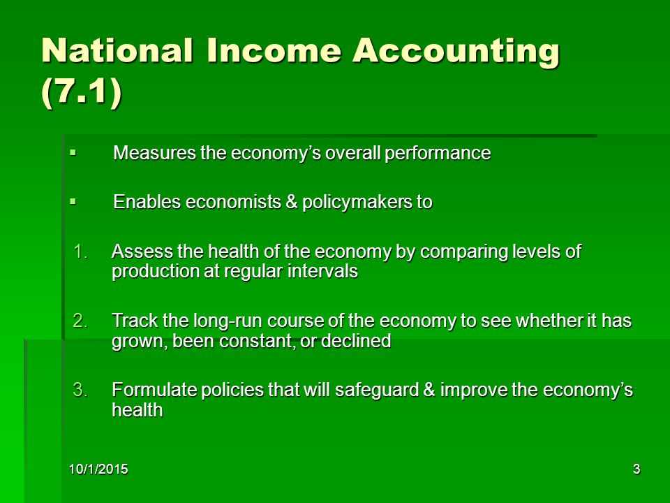 National Income Accounting (7.1)