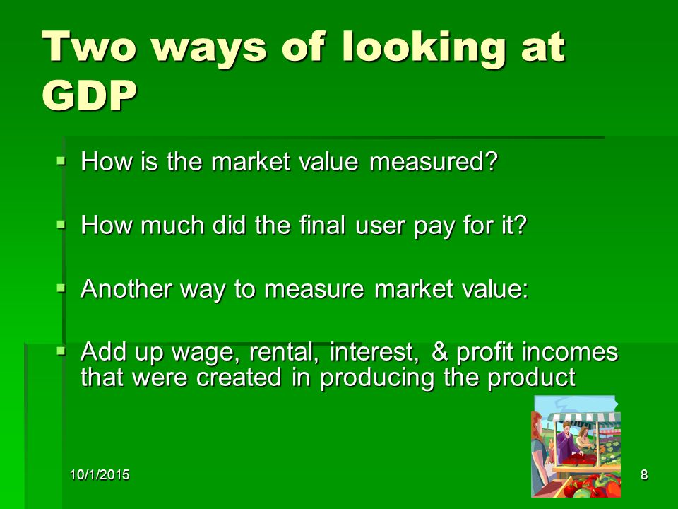 Two ways of looking at GDP