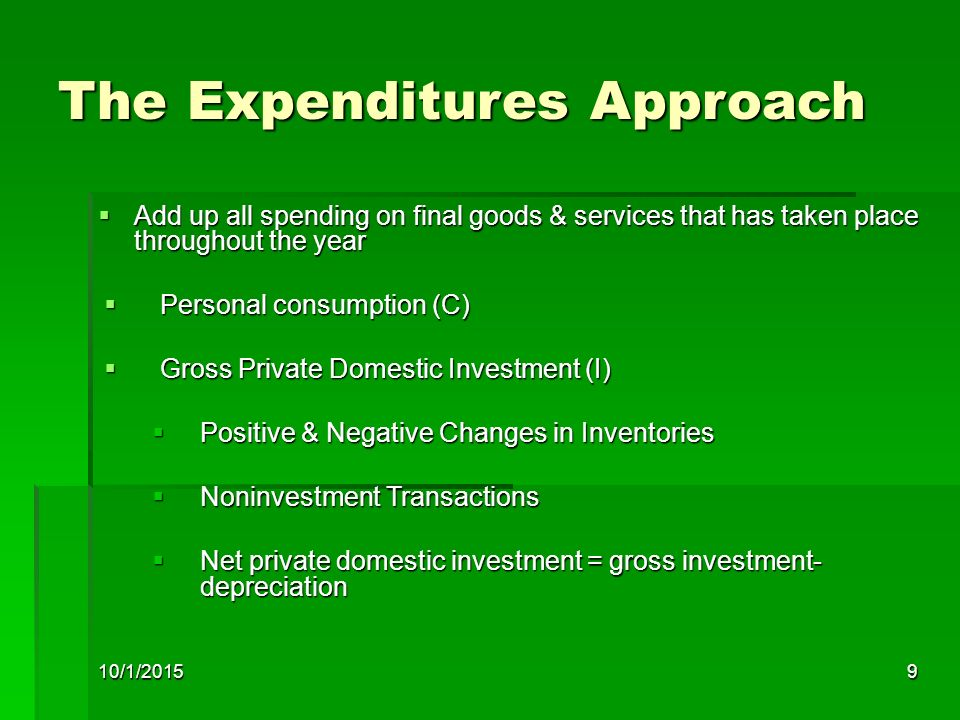 The Expenditures Approach