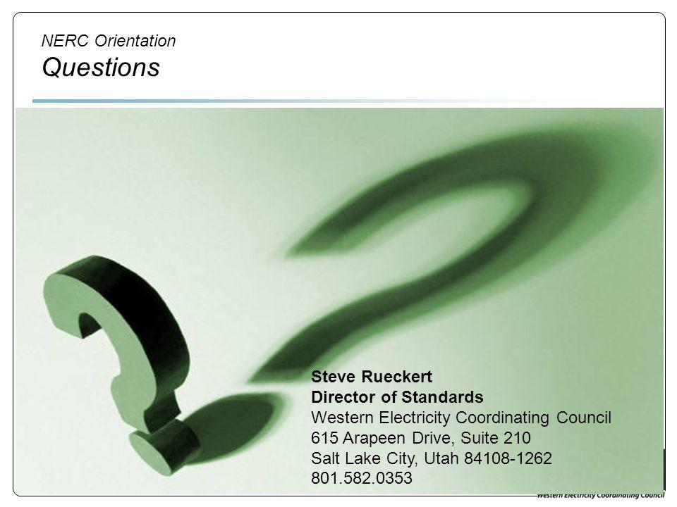 NERC Orientation Questions