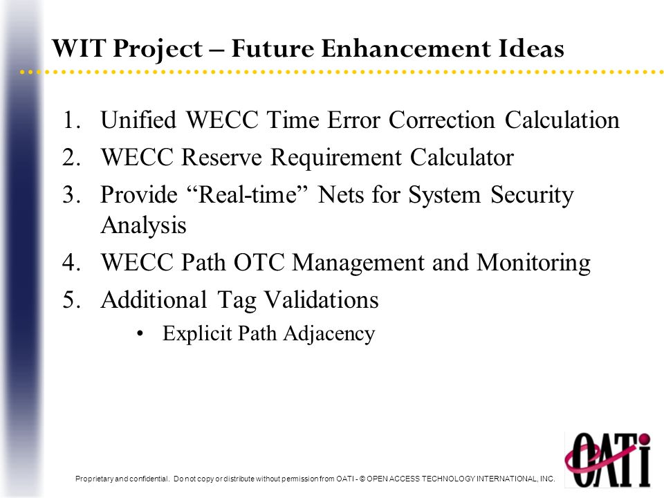 WIT Project – Future Enhancement Ideas