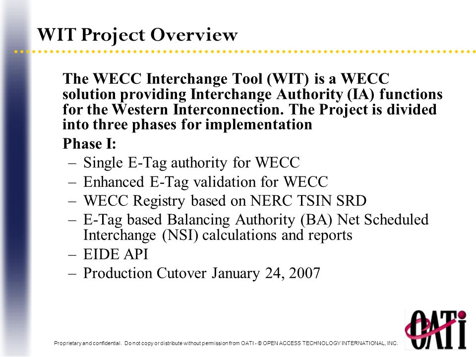 WIT Project Overview