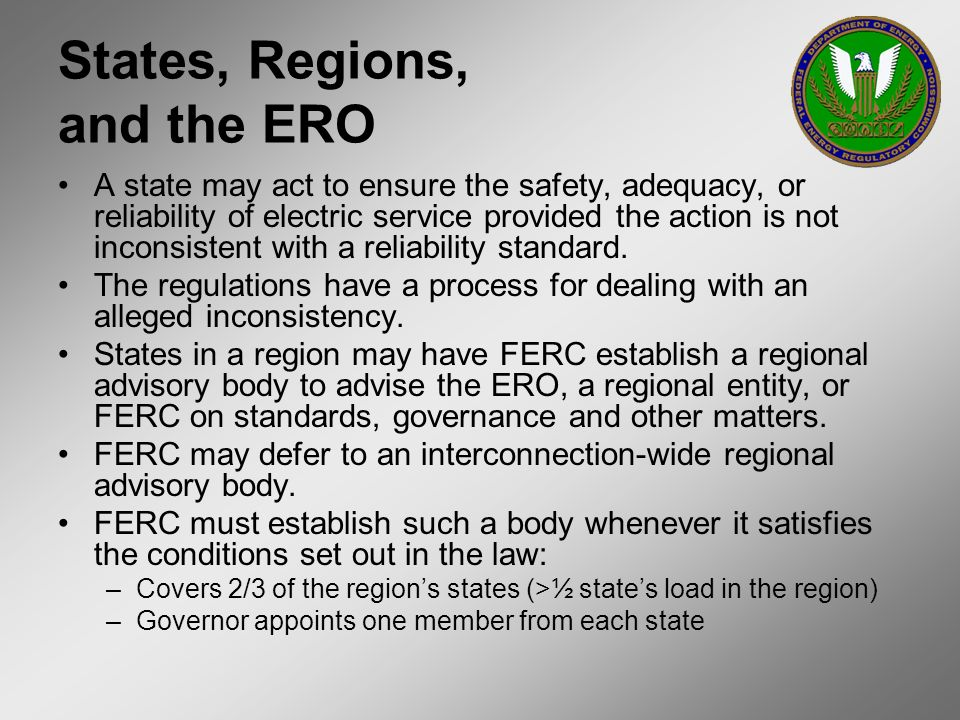 States, Regions, and the ERO