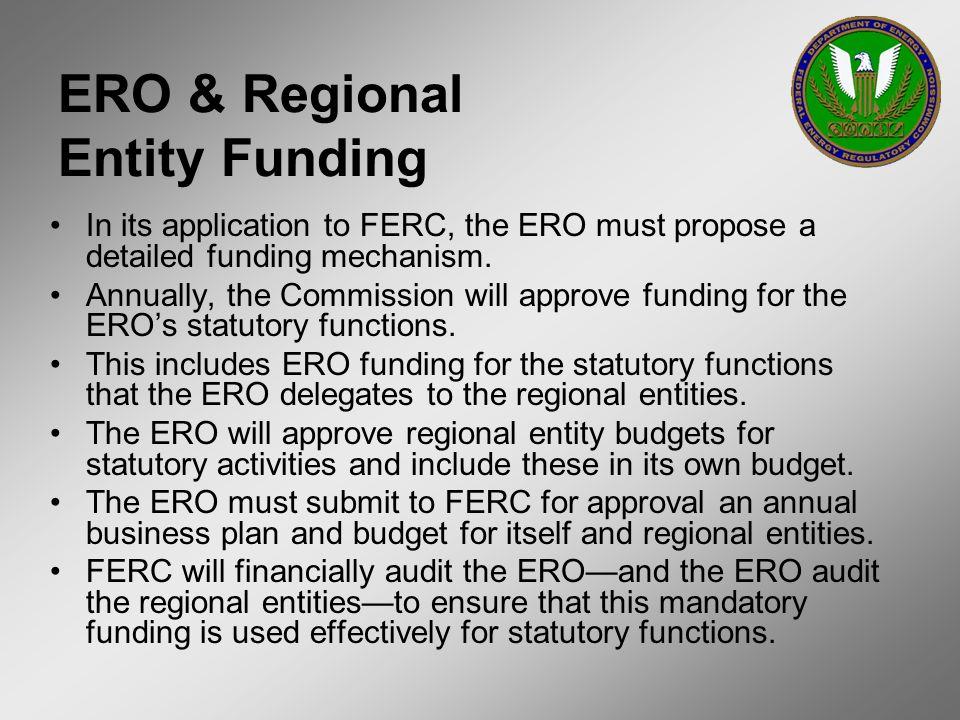 ERO & Regional Entity Funding