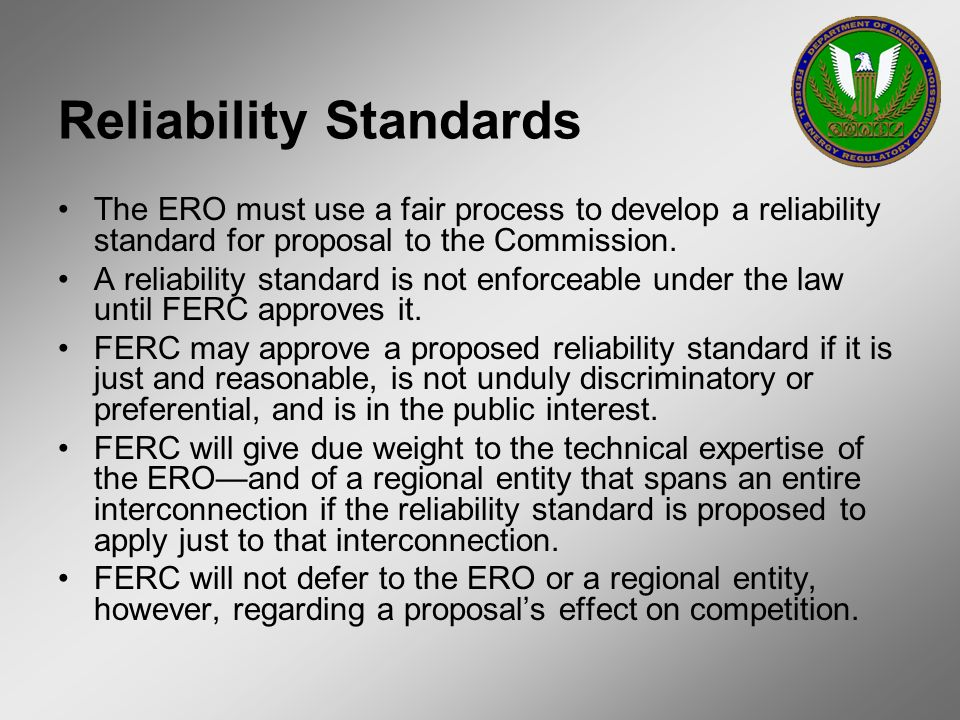 Reliability Standards