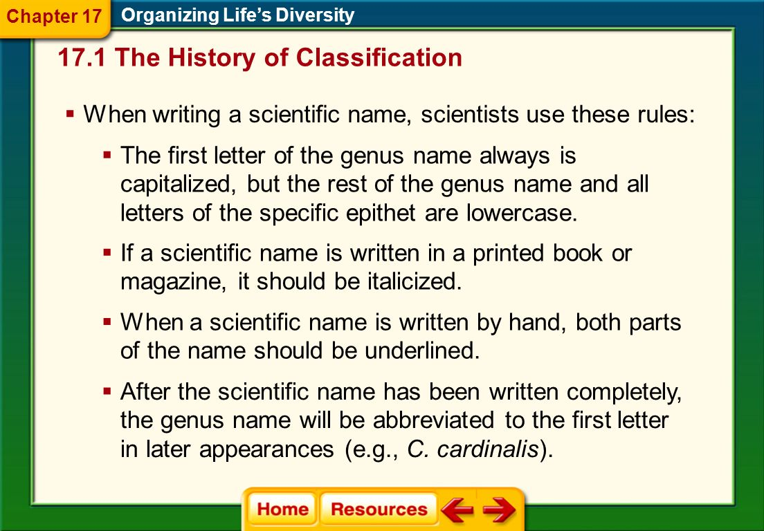 17.1 The History of Classification