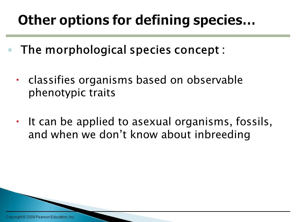 Other options for defining species…