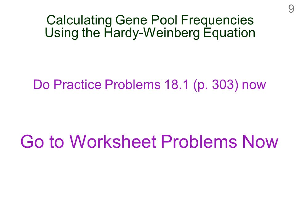 Gene frequencies and the hardy weinberg