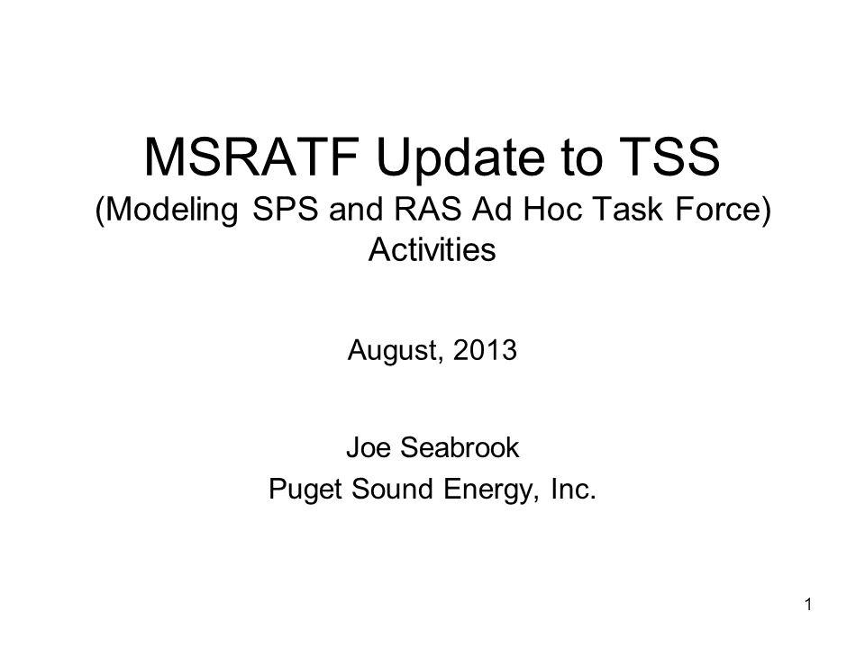 Joe Seabrook Puget Sound Energy, Inc.