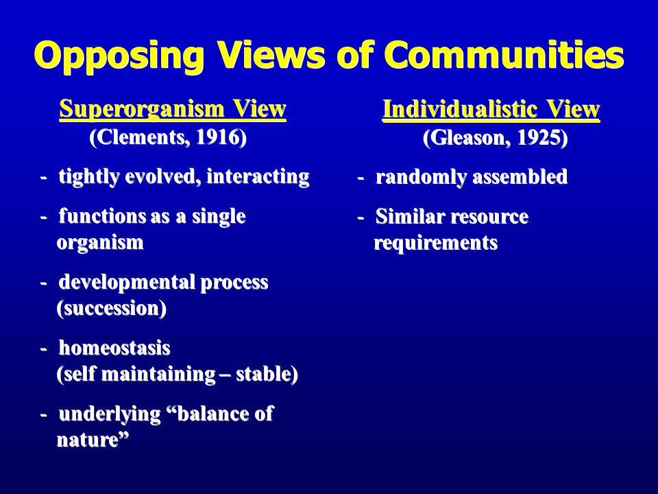 Opposing Views of Communities