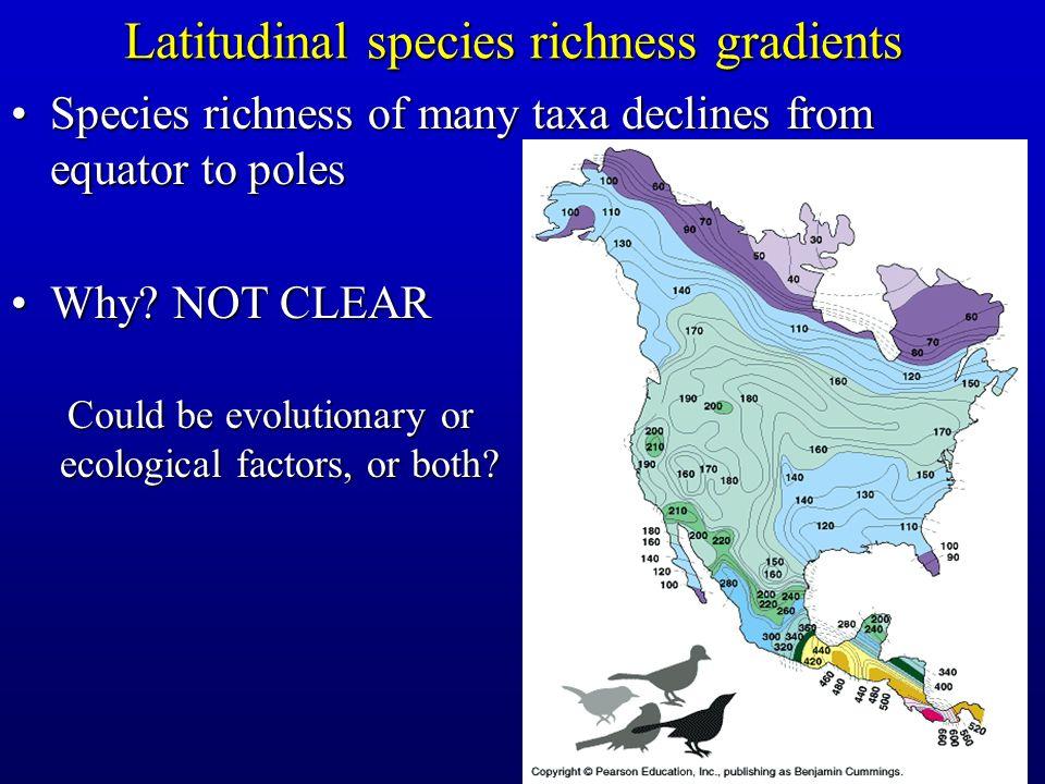 Latitudinal species richness gradients
