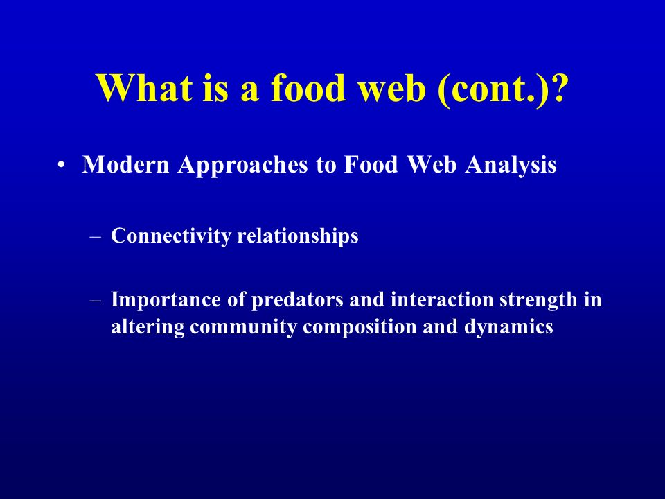 What is a food web (cont.)