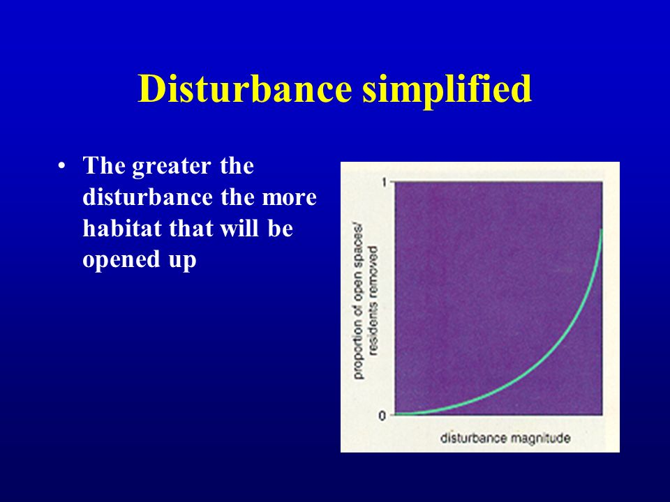 Disturbance simplified