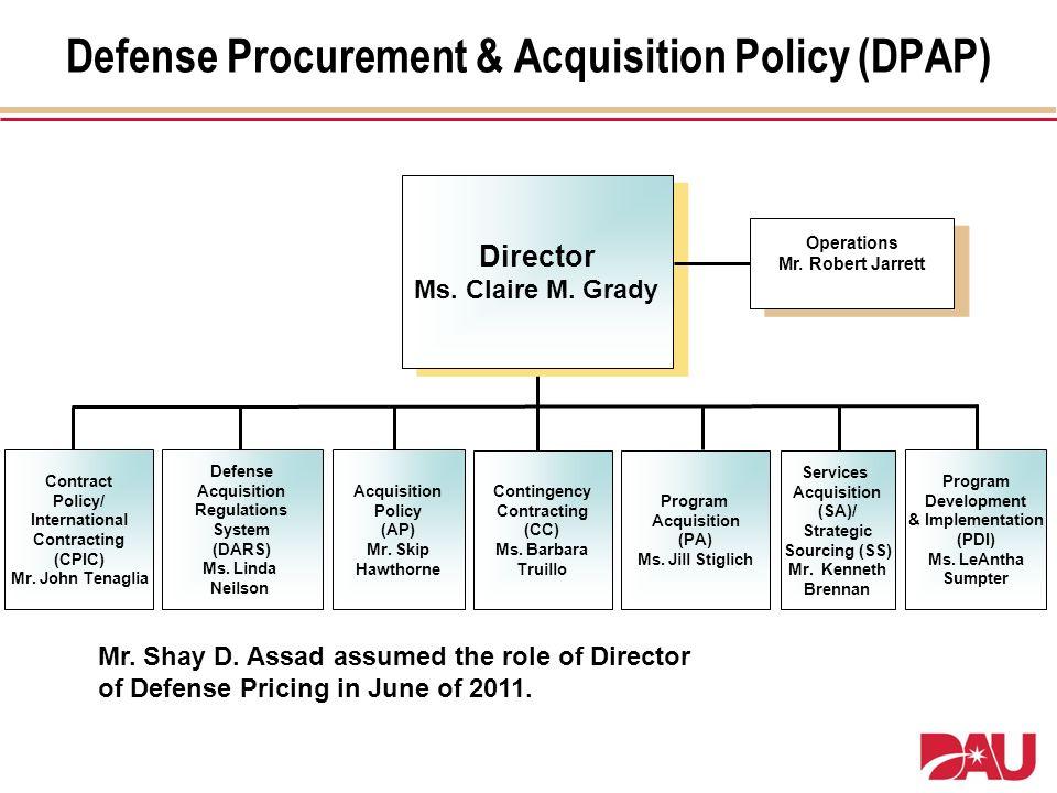 Defense Procurement & Acquisition Policy (DPAP)