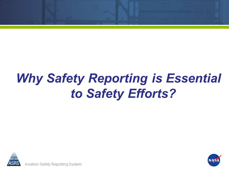 Why Safety Reporting is Essential to Safety Efforts
