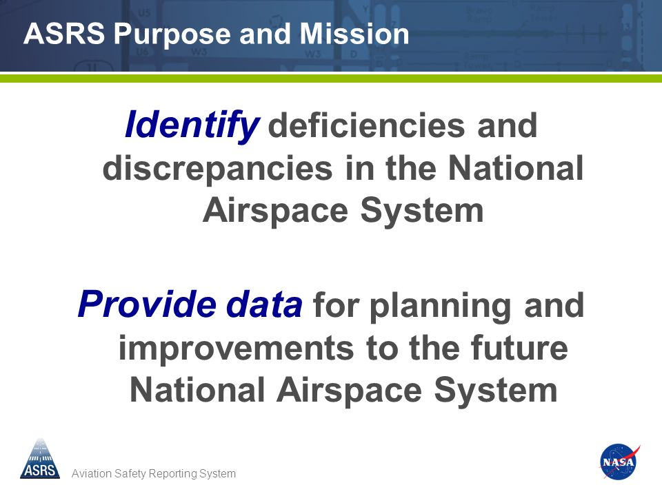 ASRS Purpose and Mission