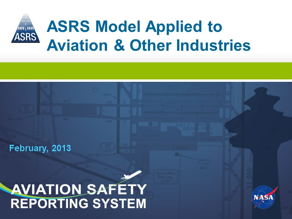 ASRS Model Applied to Aviation & Other Industries
