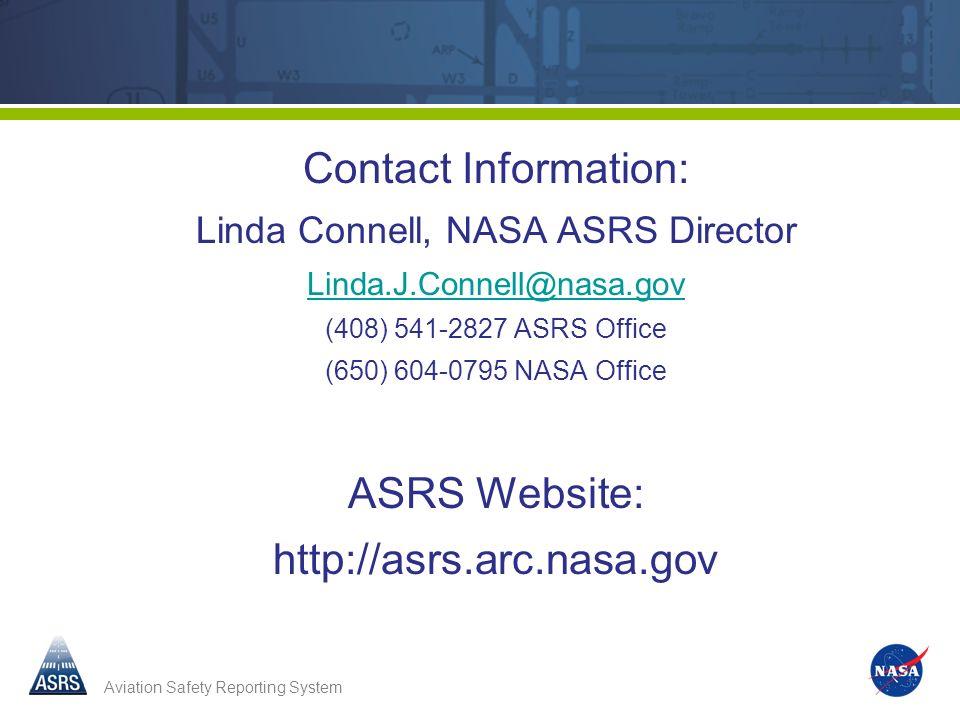 Linda Connell, NASA ASRS Director