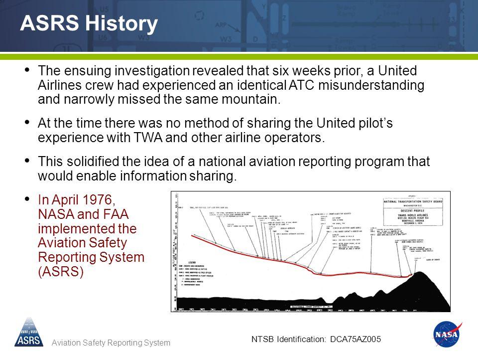 NTSB Identification: DCA75AZ005