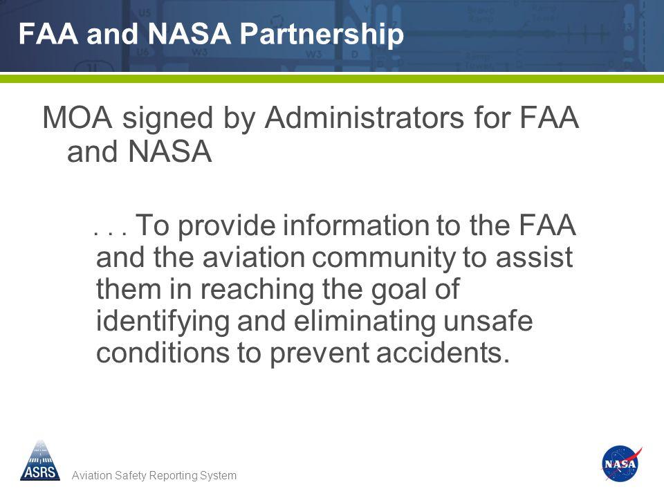 FAA and NASA Partnership