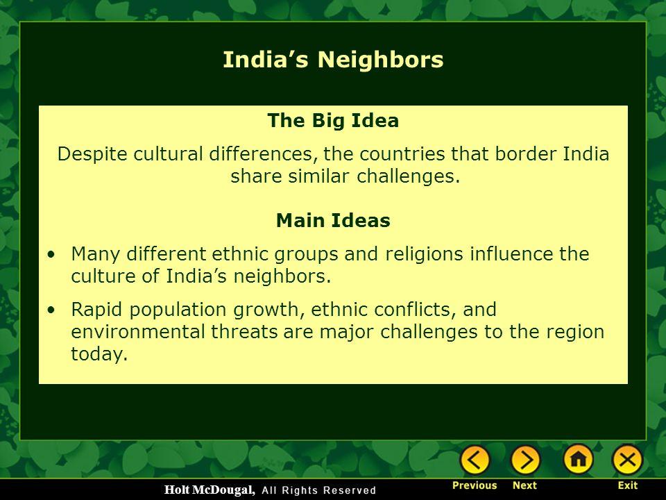 India's Neighbors The Big Idea
