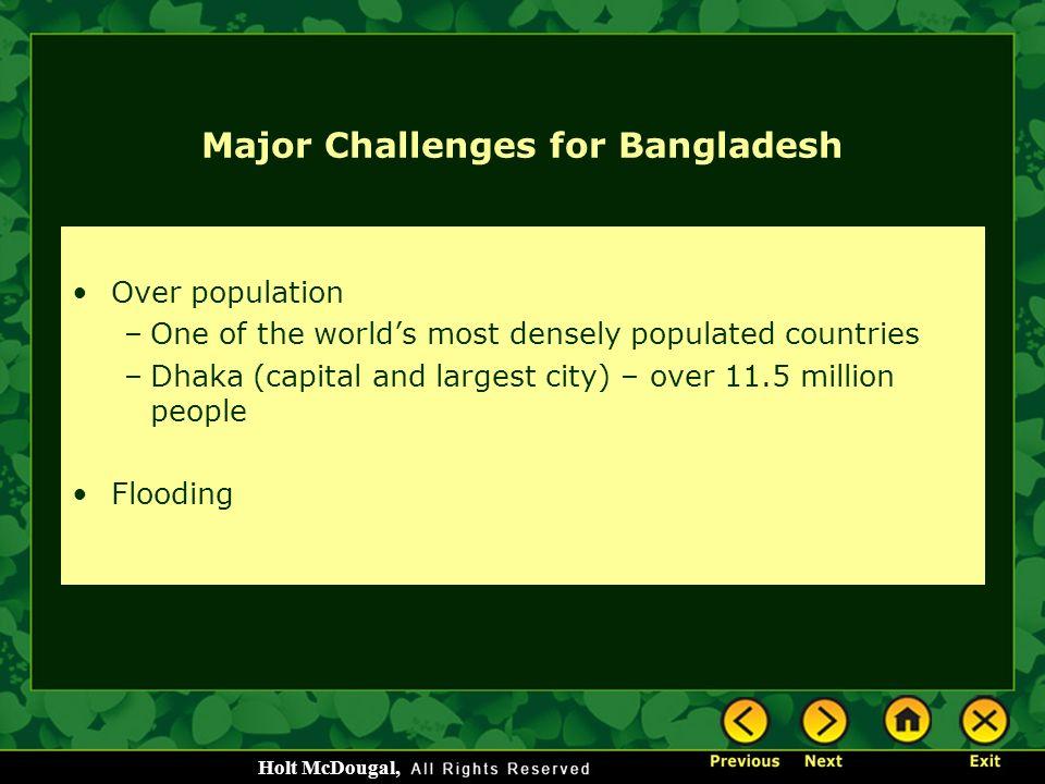 Major Challenges for Bangladesh
