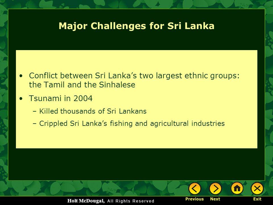 Major Challenges for Sri Lanka