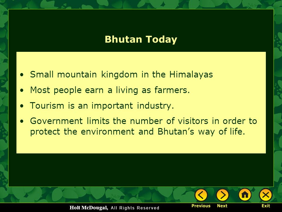 Bhutan Today Small mountain kingdom in the Himalayas