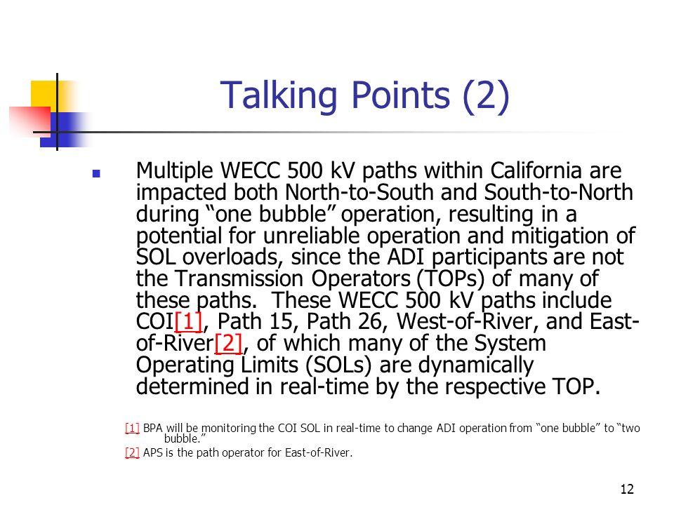 Talking Points (2)