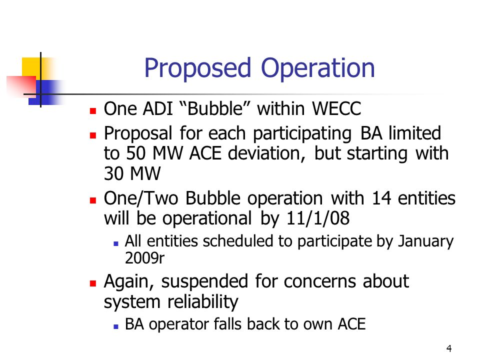 Proposed Operation One ADI Bubble within WECC